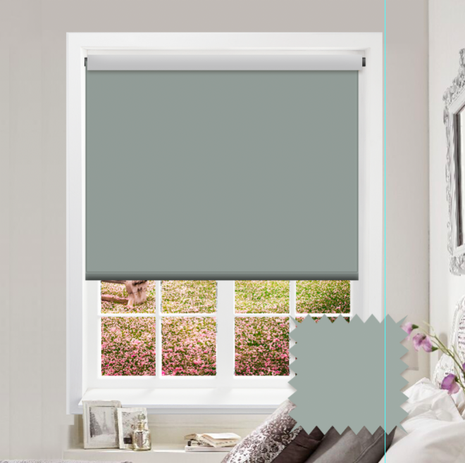 Green Roller Blind - Bahamas Pale Palm Plain - Just Blinds